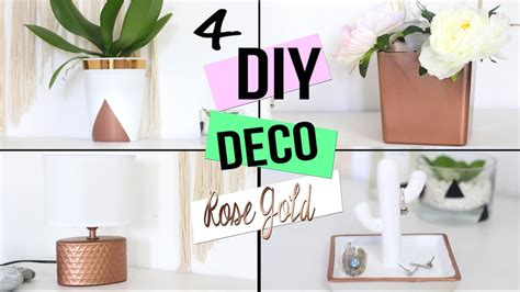 Diy Deco Cuivre Rose Gold Pour Chambre Salon Bureau Décoration De Bureau