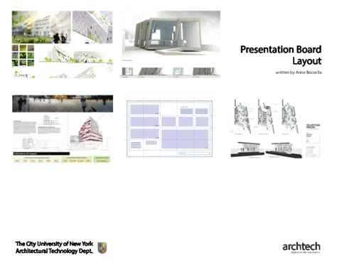 layout presentation architecture presentation board layout