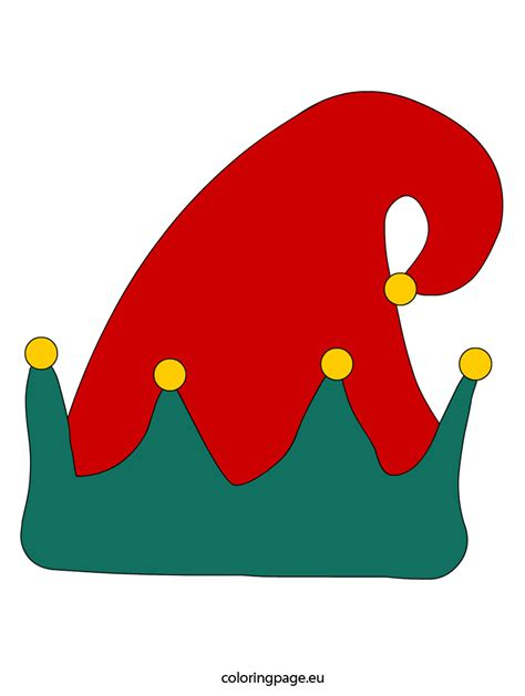 elf hat coloring page coloring pages ideas amp reviews