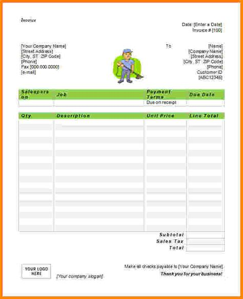 6 generic invoice template word paid invoice
