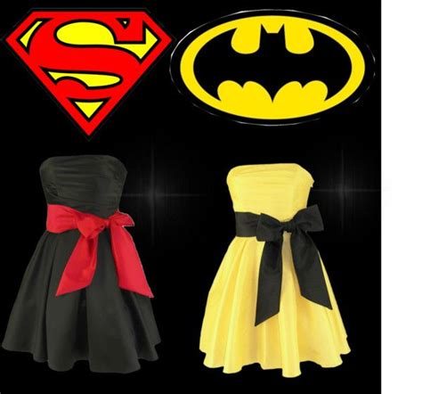 superman batman dress quot superman or batman quot by mariliasuckert liked on polyvore