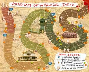 map of walking dead my