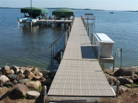 dock your boat meaning aluminum nisswa dock with titan vinyl decking