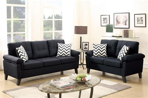 black fabric couches black fabric sofa and loveseat set steal a sofa