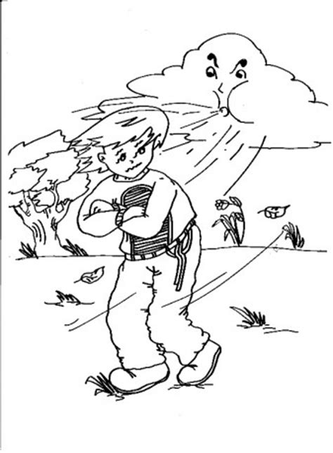 windy day coloring pages coloring pages