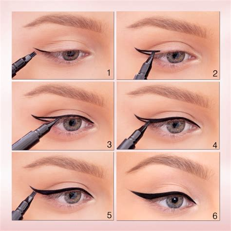 tutorial on eyeliner application winged eyeliner tutorial learn how to apply winged eyeliner