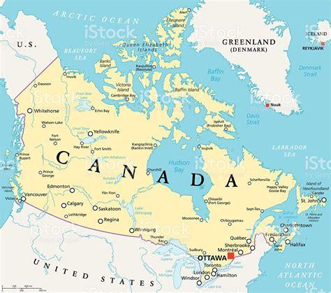 map de canada kanada politische karte stock vektor und mehr bilder