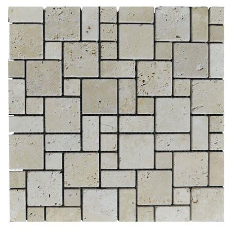 french pattern travertine tiles white tumbled mini french pattern travertine mosaic tiles