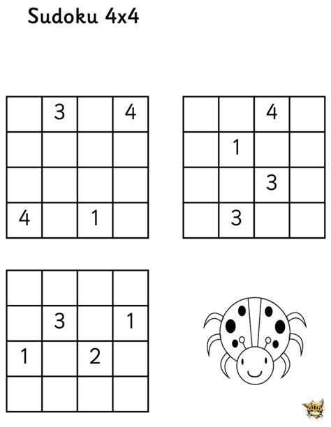 printable sudoku 4x4 sudoku 4x4 n 176 6 pour enfants 224 imprimer
