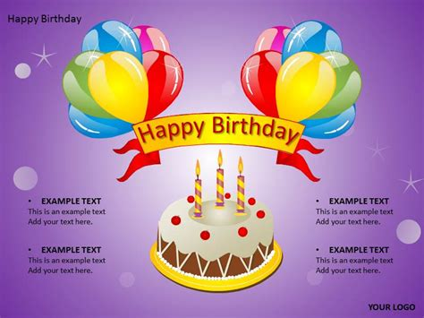 happy birthday template powerpoint happy birthday cake powerpoint templates ppt backgrounds
