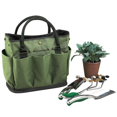 Garden Tote by Picnic At Ascot Garden Tote Tools Set Forest Green
