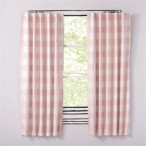 Curtains Pink And Green Ideas Pink Buffalo Check Curtain The Land Of Nod