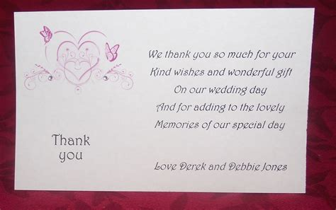 Thank You Card Wedding Gift - wedding gift thank you card wedding o