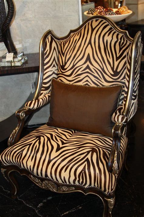 zebra print recliner wing back chair marge carson zebra print quot done right