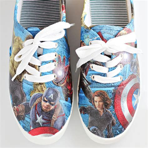 comic shoes diy craft tutorial diy shoes comic con