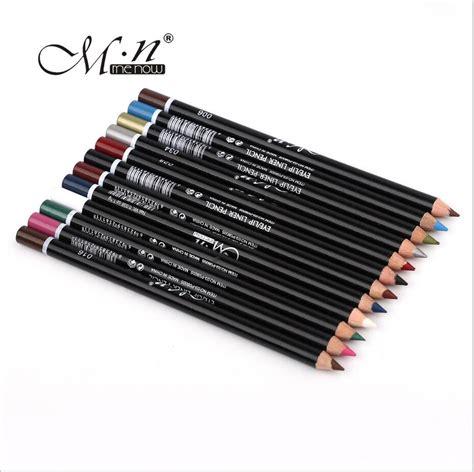 Menow Eyebrow Black N Brown Eyeliner 1 set menow 12 colors professional eye makeup eyeliner pencil waterproof eyebrow pen eye
