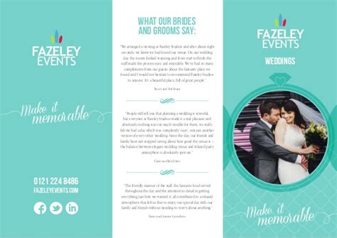 Wedding Brochure by Wedding Brochure Fazeley Events