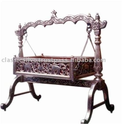 indian style swings carved silver baby swing cradle bed silver furniture from