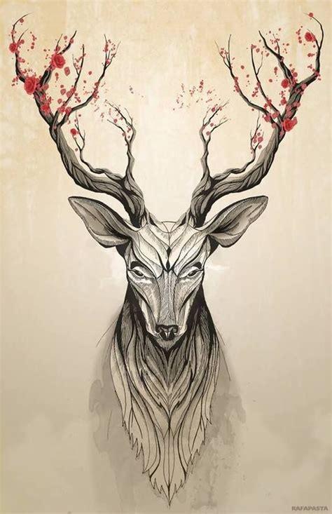 knowing the deer tree by rafapasta illustration