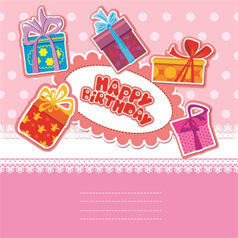 birthday gift card design template 14 vector happy birthday gift images free clip