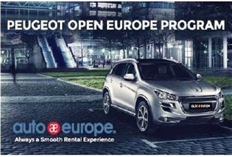 peugeot car rental europe auto europe peugeot offer long term rental program