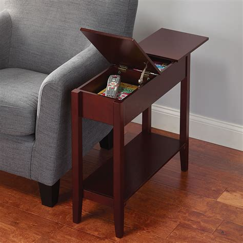 The Hidden Storage Side Table   Hammacher Schlemmer