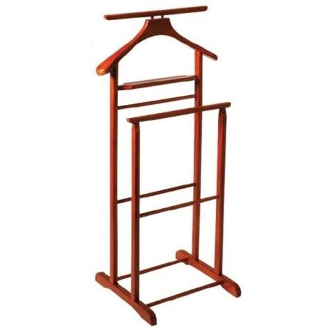 Bedroom Furniture Valet Stand Dual Rail Wooden Valet Stand In Cherry 4036 Furniture In