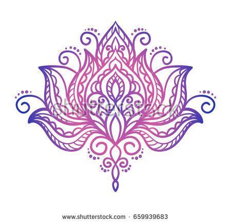 lotus tattoo vector vector abstract oriental style flower lotus stock vector