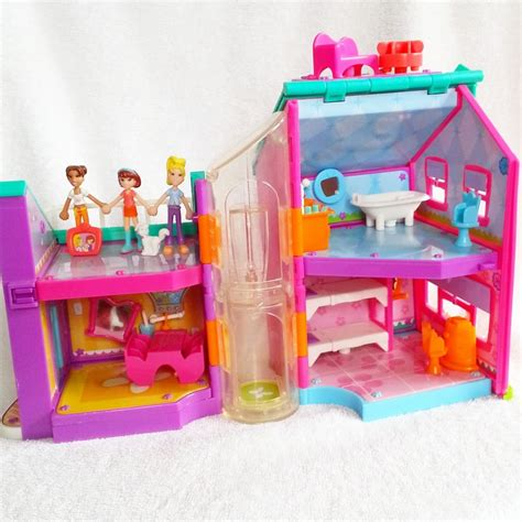 polly pocket dolls house 2002 polly pocket rare lot 2002 magnetic house 3 dolls furniture accessories