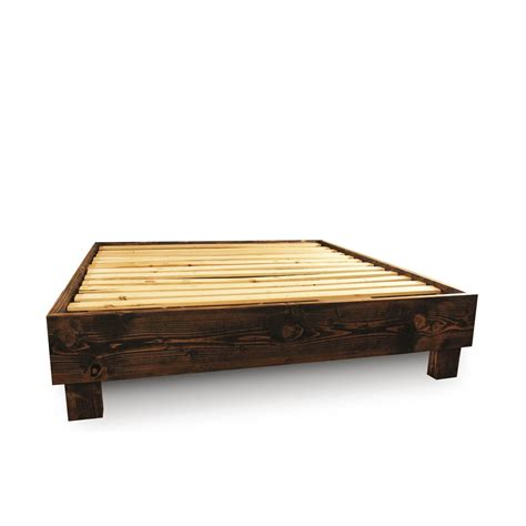 wooden bed platform solid wood platform bed frame and headboard simple also