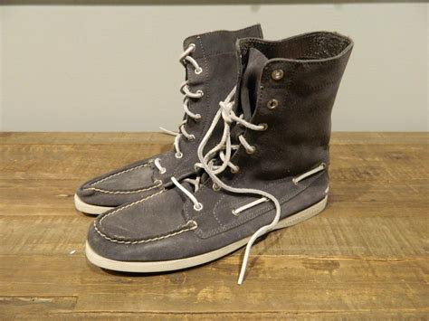 sperry top sider for jcrew suede ankle boots womens 9 gray