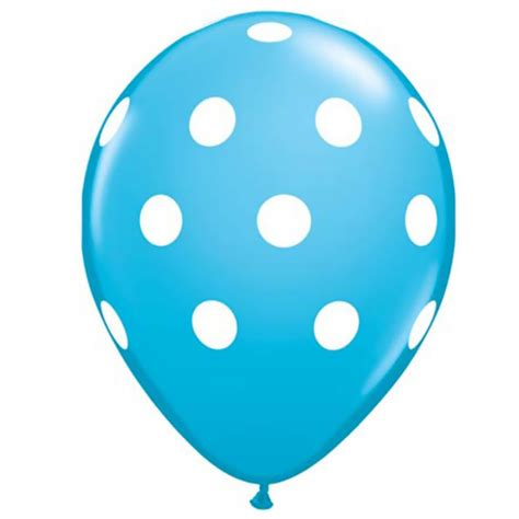 Balon Polkadot Balon Dot aqua blue polka dot 11 balloons