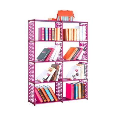 Rak Buku Serbaguna Dua Sisi Rak Portable Mudah Dibongkar Pasang Rt49 jual gogo model rak buku portable serbaguna pink 2 sisi