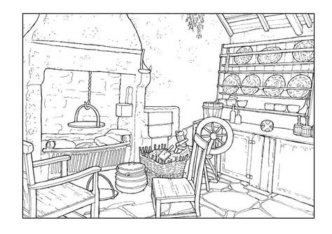 art room coloring page coloring page living room 18th century img 9900