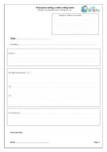 worksheets writing persuasive writing letter