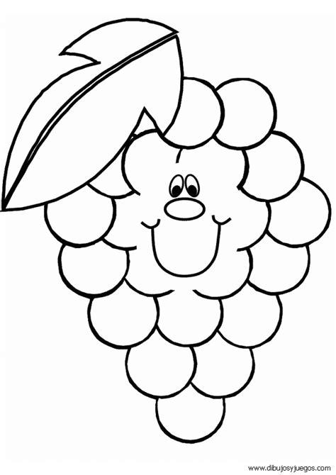 Imagenes De Pan Y Uvas Para Colorear | dibujos de uvas 002 dibujos y juegos para pintar y colorear