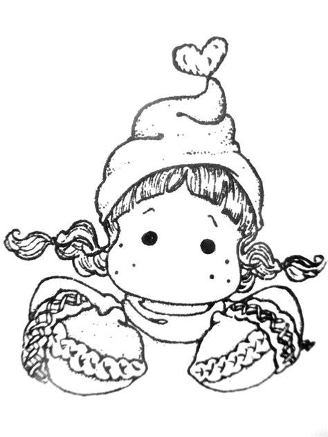 Digi Images For Card Making - buste tilda avec bonnet et gants hiver digi stamps magnolia pinterest girls xmas and
