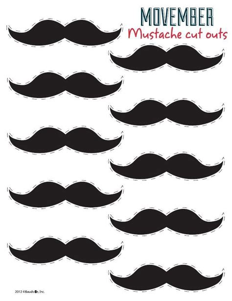 free printable mustache templates free mustache printable