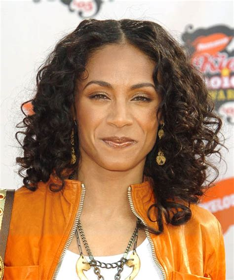 Jada Pinkett Smith Long Curly Casual Hairstyle