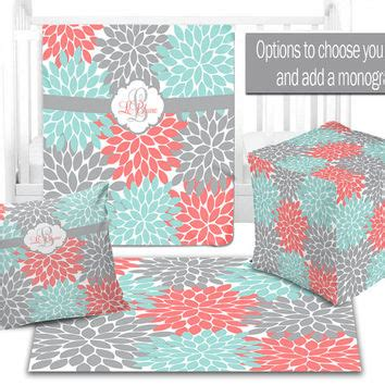 Gray Teal And Coral Bedding by Shop Coral And Gray Decor On Wanelo