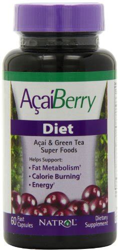 Natrol Acai Berry Isi 75 Tab natrol acai berry diet 60 capsules health and in the uae see prices reviews and buy