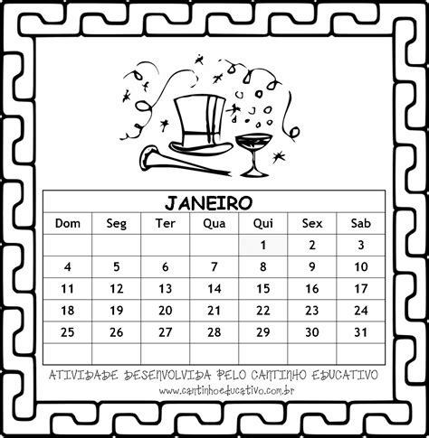 Calendario Can 2015 Cantinho Educativo Calend 193 Rios 2015 Para Colorir