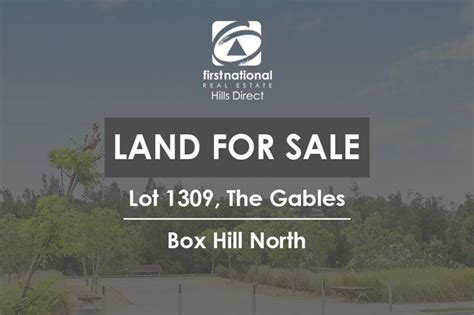 lot 1087 the gables box hill nsw 2765 residential land lot 1309 the gables box hill nsw 2765 squiiz com au