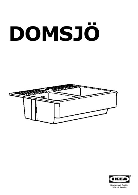 Evier Domsjo by Domsj 214 201 Vier 2 Bacs Blanc Ikea Ikeapedia