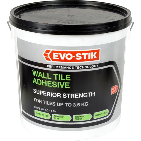 Tile Adhesive Evo Stik Grab Tile Adhesive 10l Toolstation