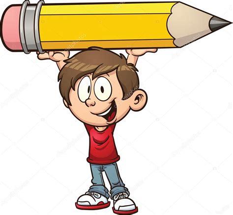 imagenes hot dibujos animados ni 241 o con un l 225 piz grande vector de stock 169 memoangeles