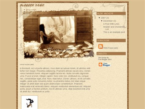 missing you blogger template eblog templates