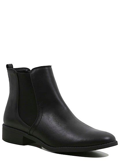 Faux Leather Chelsea Boots faux leather chelsea boots george at asda