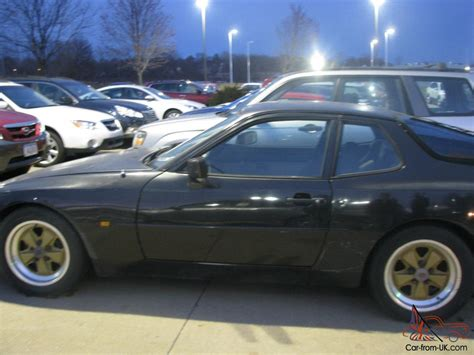 porsche 944 black black 1984 porsche 944 2 door coupe gold fuchs 5 speed