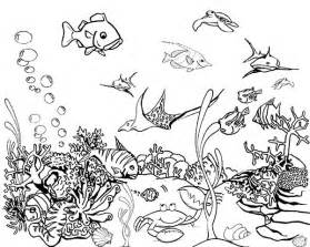 Coloring Page Here Home Fish Tank Tropical sketch template